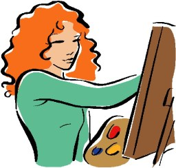 clip-art-woman painting-398378